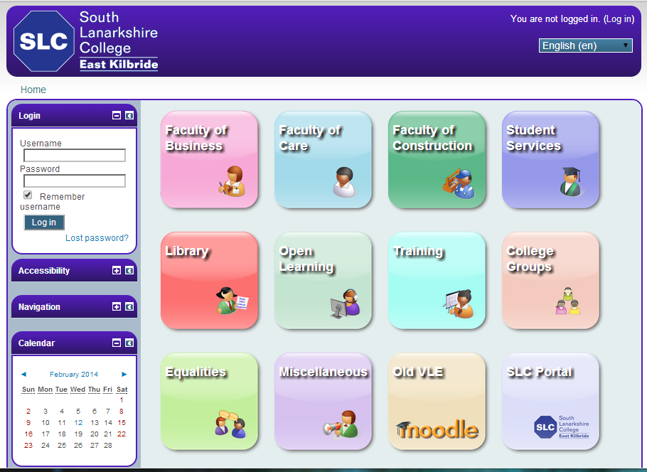 South Lanarkshire College - VLE Theme